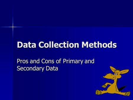 primary and secondary data collection methods pdf