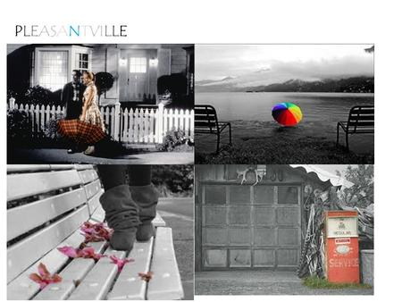 "PLEASANTVILLE. Right now you have one layer. Your first layer is called ""Background."""