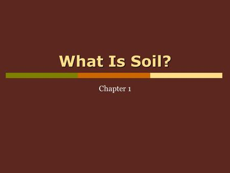 What Is Soil? Chapter 1. Soil Analysis Ch12 1.1 Why Study Soil Science?  what we call soil is also known as the 'lithosphere'  it plays an significant.