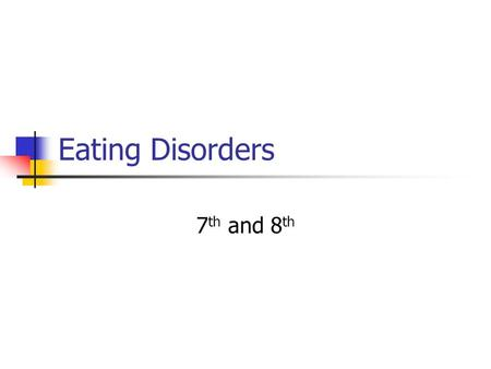 Eating Disorders 7 th and 8 th. Pennsylvania State Standard 10.1.9 – Analyze factors that impact nutritional choices of adolescents. Body image Dietary.