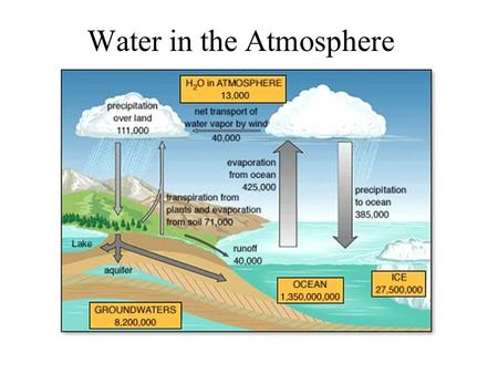 Water in the Atmosphere. Hydrological(Water) Cycle.