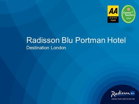 Radisson Blu Portman Hotel Destination London. The Radisson Blu Portman Hotel is centrally located in the heart of London's fashionable West End in the.