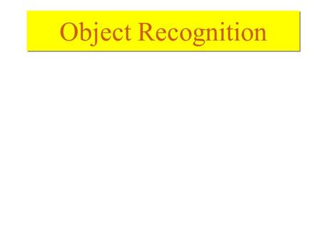 Object Recognition. Segmentation –Roughly speaking, segmentation is to partition the images into meaningful parts that are relatively homogenous in certain.