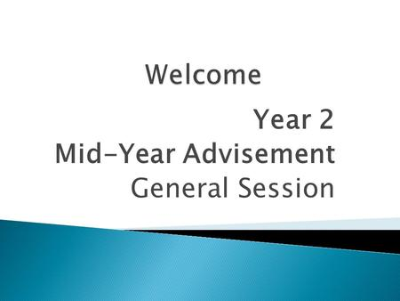 Year 2 Mid-Year Advisement General Session.  Local District Program Directors  Portfolio Reviewers  Central District Staff.