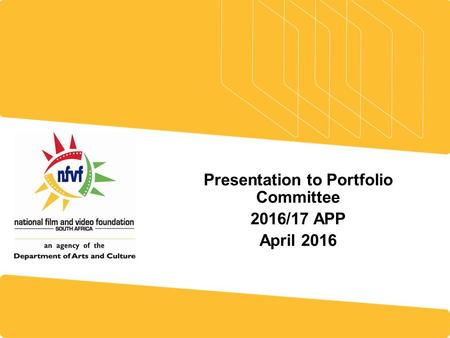 Presentation to Portfolio Committee 2016/17 APP April 2016.