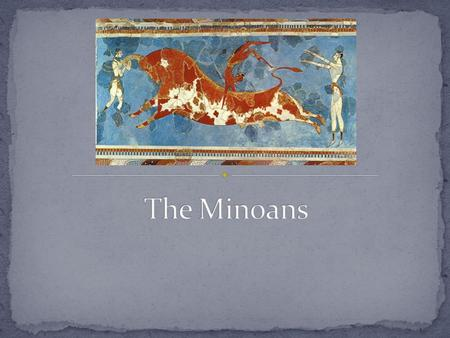 The Minoans emerged from Cycladic and Pelasgian culture around 2100 BCE They established dominance over Crete and most of the eastern Mediterranean, including.
