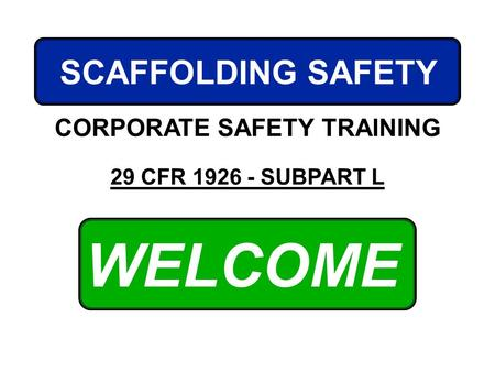 CORPORATE SAFETY TRAINING