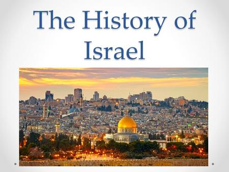The History of Israel. Burning Question Burning Question Who does the land of Israel, Palestine, and Jerusalem rightfully belong to? o Palestinians (Arabs.