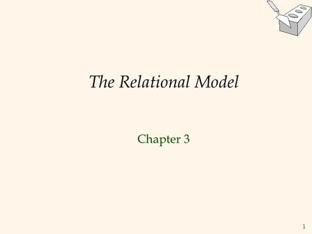 1 The Relational Model Chapter 3. 2 Why Study the Relational Model?  Most widely used model.  Multi-billion dollar industry, $15+ bill in 2006.  Vendors: