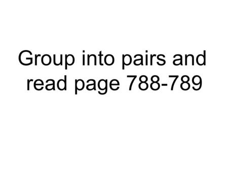 Group into pairs and read page 788-789. Metric Conversions Ladder Method.
