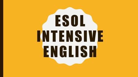 ESOL INTENSIVE ENGLISH. QUESTIONS OR PROBLEMS: Alief-Bissonnet: –Ms. Margaret Henry –713-718-7164 Spring.