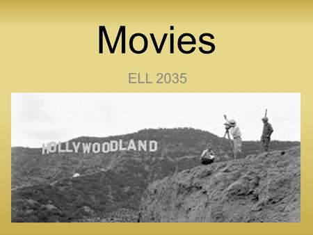 Movies ELL 2035. Common Mistakes #8 Movie Edition.