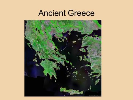 Ancient Greece. The Minoans Mycenaean 2000-1200 BCE.