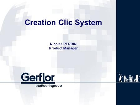 Creation Clic System Nicolas PERRIN Product Manager.