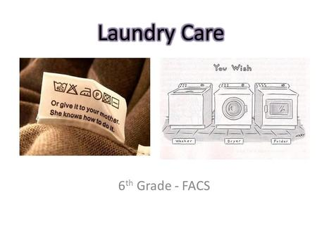 6 th Grade - FACS. Required by law Tells how to care for garment Must list fiber content.