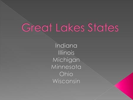  Major city: Indianapolis  Major industries: Agriculture, mi mining   Major river: Ohio  Major lake: Lake Michigan  Indiana was the 19 th state.