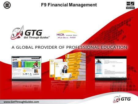 F9 Financial Management. 2 Section D: Investment appraisal Designed to give you the knowledge and application of: D3. Discounted cash flow (DCF) techniques.
