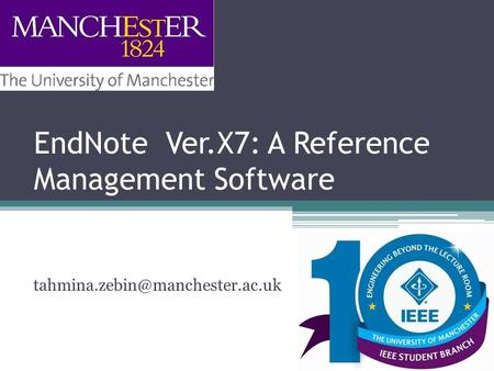 EndNote Ver.X7: A Reference Management Software