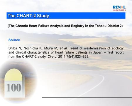 The CHART-2 Study (The Chronic Heart Failure Analysis and Registry in the Tohoku District 2) Source Shiba N, Nochioka K, Miura M, et al. Trend of westernization.