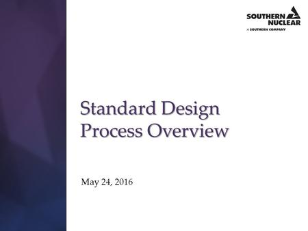 Standard Design Process Overview
