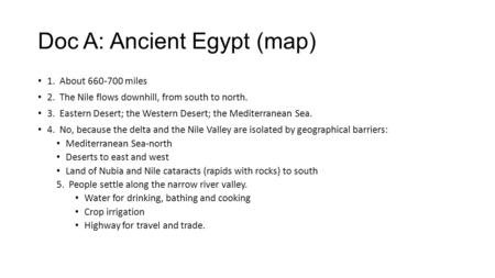 ancient egypt essay test