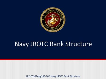 Navy JROTC Rank Structure