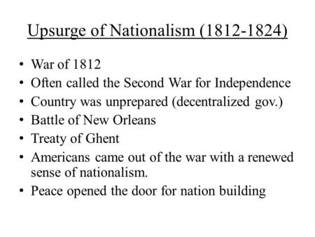 nationalism and sectionalism essay