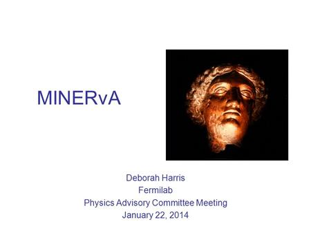 MINERvA Deborah Harris Fermilab Physics Advisory Committee Meeting January 22, 2014.