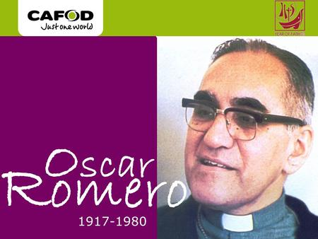 O scar R omero 1917-1980. In 1977, he became Archbishop of San Salvador, the capital. Some rich people were pleased - they thought he would help to control.