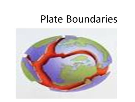 Plate Boundaries 3 Main Types: –1. Divergent Boundaries Plates moving AWAY from each other –2. Convergent Boundaries Plates moving TOWARD each other.