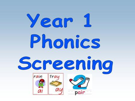 The children in year 1 will focus on the use of phonics and decoding skills to support their reading progress. Phonic sounds are taught each week and.