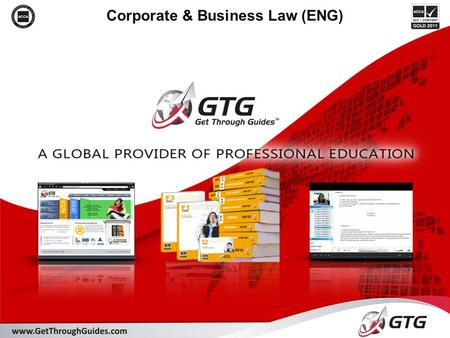 Corporate & Business Law (ENG). 2 Section D: The formation and constitution of business organisations Designed to give you knowledge and application of: