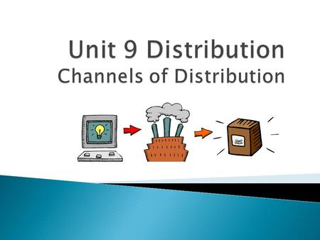  Distribution is the Place Decision in the 4 P's  Channels of Distribution-path a product takes from producer to final user  Channels end when a product.
