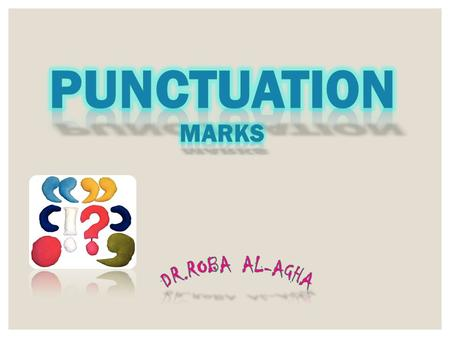 What is an end mark? An end mark is also known as punctuation, and comes at the end of a sentence. It lets you know when to stop.