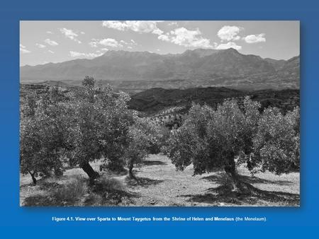 Figure 4.1. View over Sparta to Mount Taygetus from the Shrine of Helen and Menelaus (the Menelaum).
