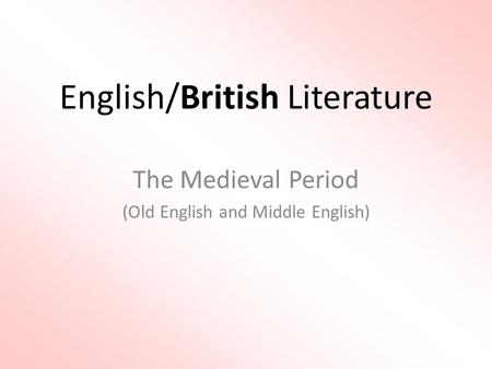 From old English to modern English