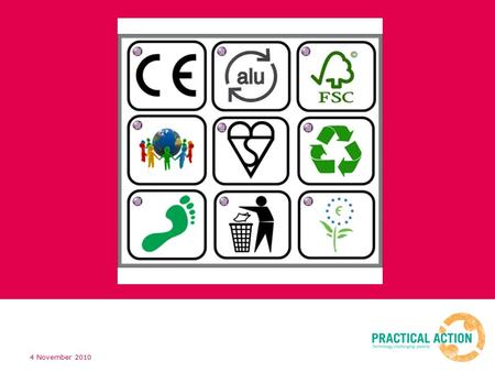 4 November 2010. items with this symbol means that they can be recycled if there are facilities locally. Aluminium can be recycled The CE Mark is administered.