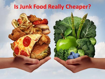 Is Junk Food Really Cheaper?. VS. McDonald's vs. Fresh Foods: Which is Cheaper?