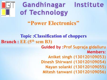 Gandhinagar Institute of Technology