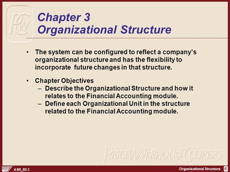 Chapter 3 Organizational Structure