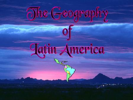 """ Regions of ""Latin America"" Central America The Caribbean South America South America."