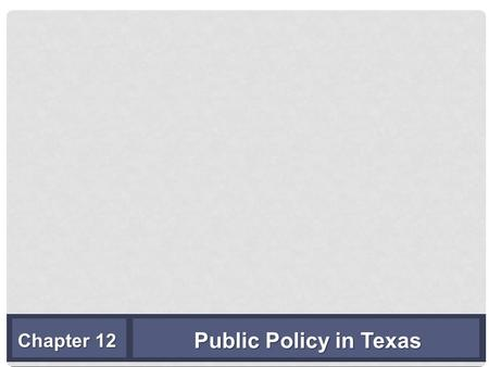 Public Policy in Texas Chapter 12. TRENDS IN TEXAS STATE EXPENDITURES— ALL FUNDS, BY BIENNIAL BUDGET PERIODS 1994–2015 (IN MILLIONS OF DOLLARS) Copyright.