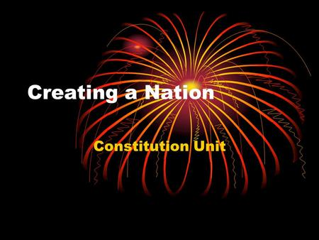 Creating a Nation Constitution Unit. Do Now: why did some states prefer representation based on population and others prefer it to be equal.