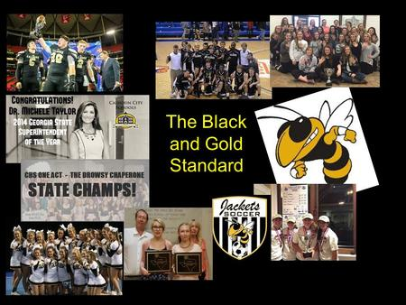 The Black and Gold Standard. Developing Champion Leaders.