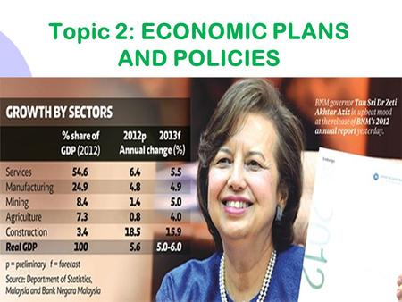 INTRODUCTION Topic 2: ECONOMIC PLANS AND POLICIES.