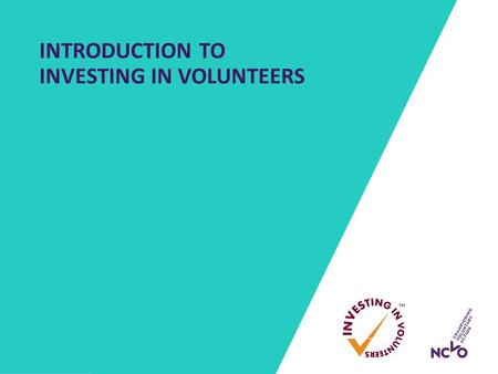 INTRODUCTION TO INVESTING IN VOLUNTEERS. WHAT DOES HIGH QUALITY VOLUNTEERING LOOK LIKE?