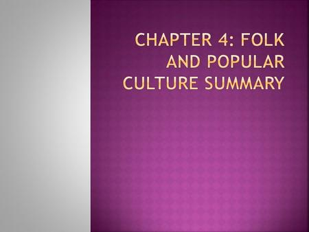 trends in popular culture essay Identity and generation influence by popular culture cultural studies essay author's names: instructor's name: course details: due date: identity and generation influence by popular culture.