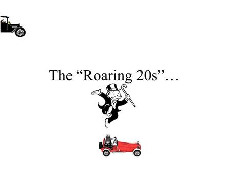 "The ""Roaring 20s""…. The ""Roaring 20s""… Come to a Crashing End ""Black Tuesday"""