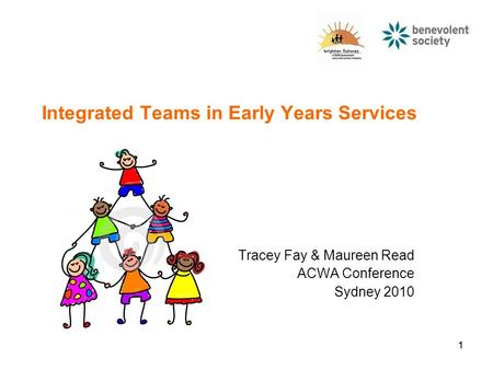 11 Integrated Teams in Early Years Services Tracey Fay & Maureen Read ACWA Conference Sydney 2010.