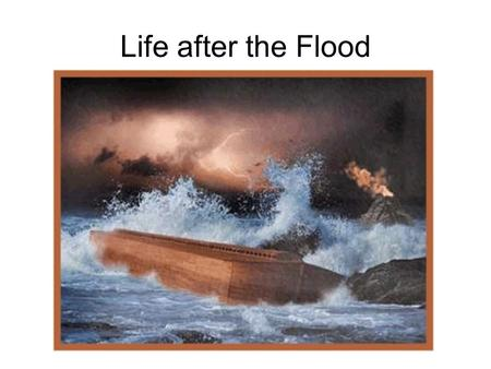 Life after the Flood. Genesis, chapter 10 The listing of Shem, Ham, and Japheth might be their birth order. It is not uncommon to think the one who carries.